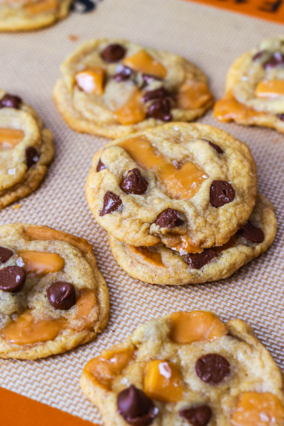 Salted Caramel Chocolate Chip Cookies | This is me... Christine Marie